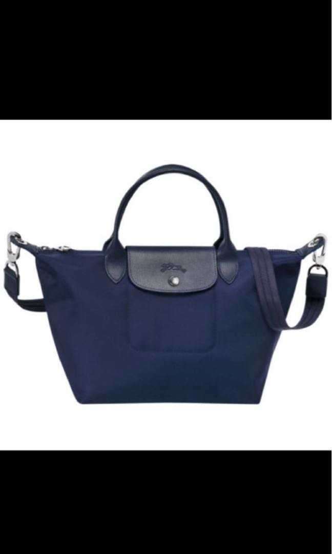 4017587eed6 Longchamp Le Pliage Neo navy blue small size sling bag 1512, Women s ...
