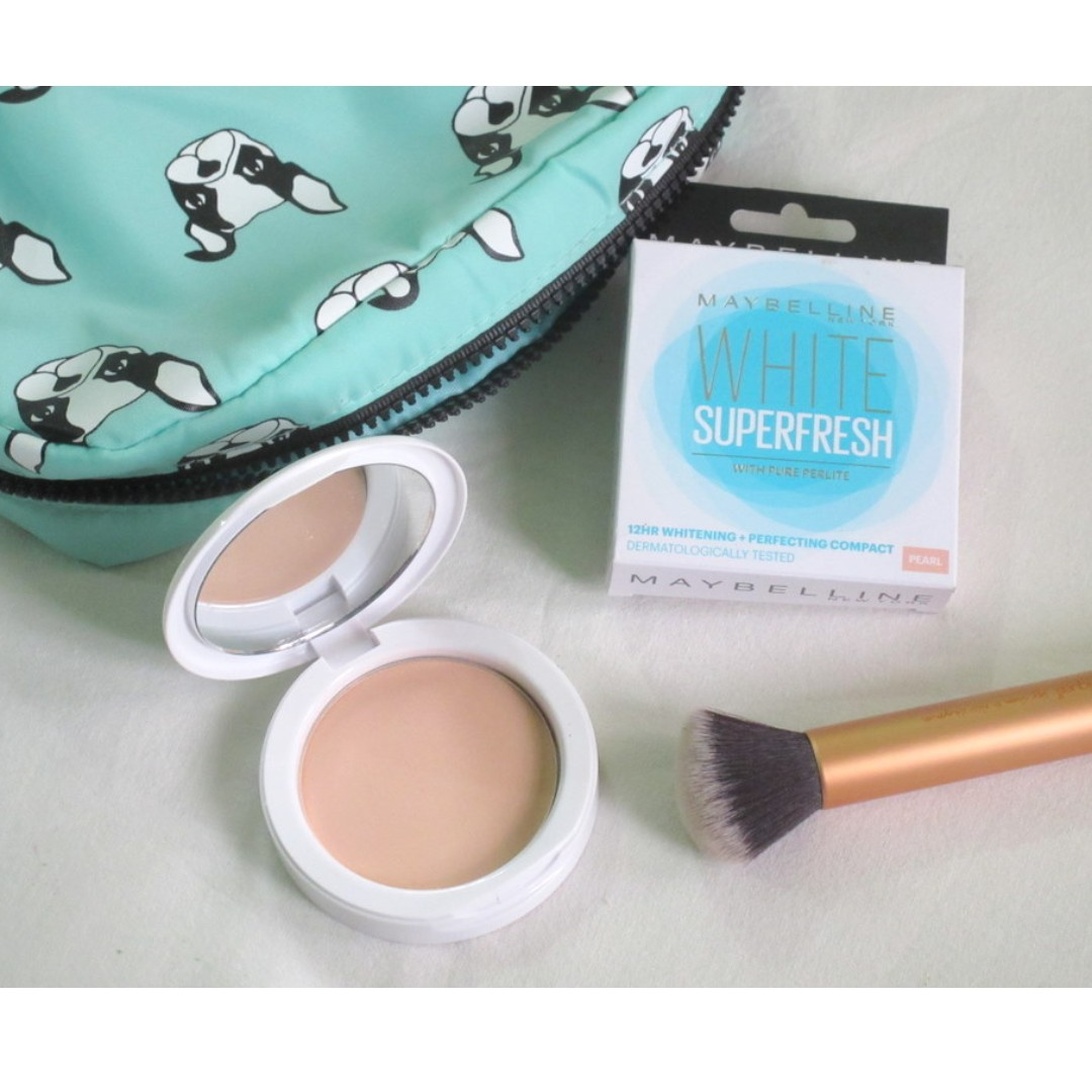 Maybelline White Superfresh Compact Powder Pearl Health Beauty Pixy Makeup On Carousell