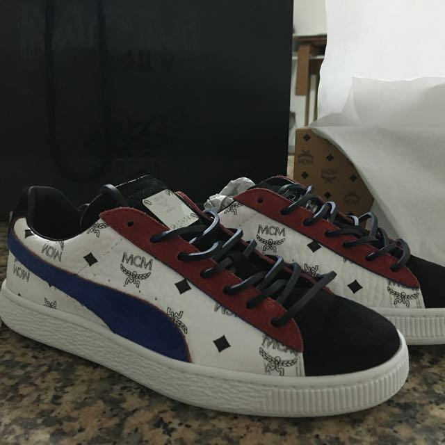 pretty nice d1bb9 ec401 MCM puma suede, Women's Fashion, Shoes, Sneakers on Carousell