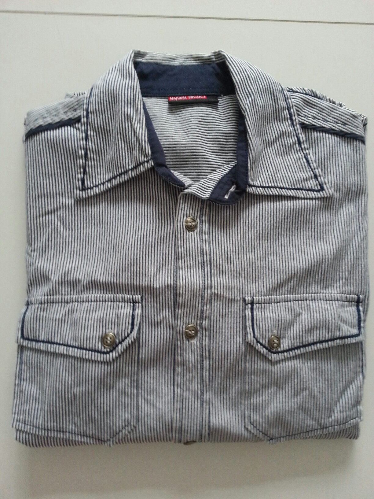 adfb71ff Natural project men shirt., Men's Fashion, Clothes, Tops on Carousell