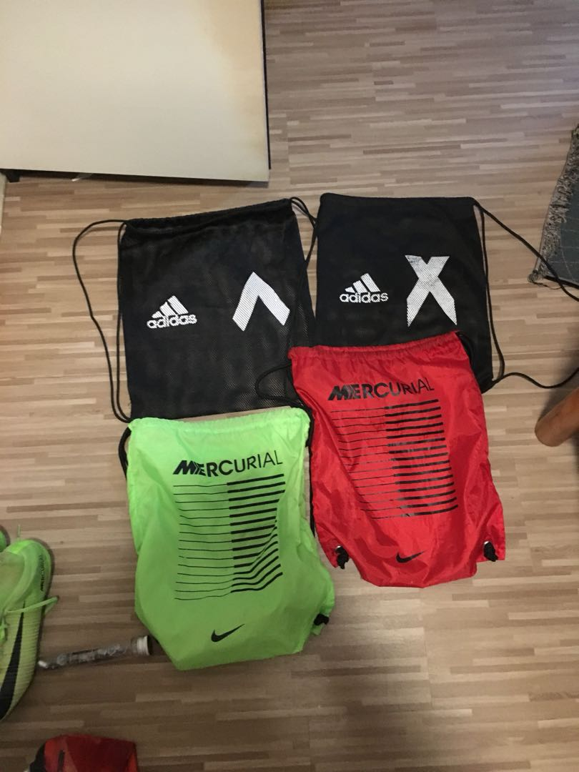 nike mercurial adidas X string bags, Sports, Sports Apparel on Carousell bba4d130de