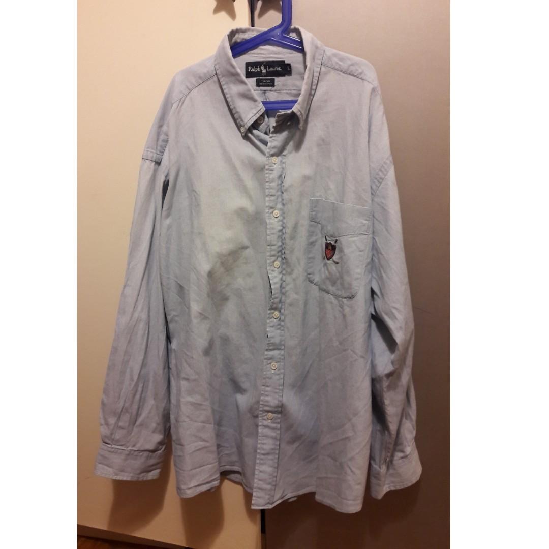 30e4492c5419 Ralph Lauren Chambray Shirt, Men's Fashion, Clothes, Tops on Carousell