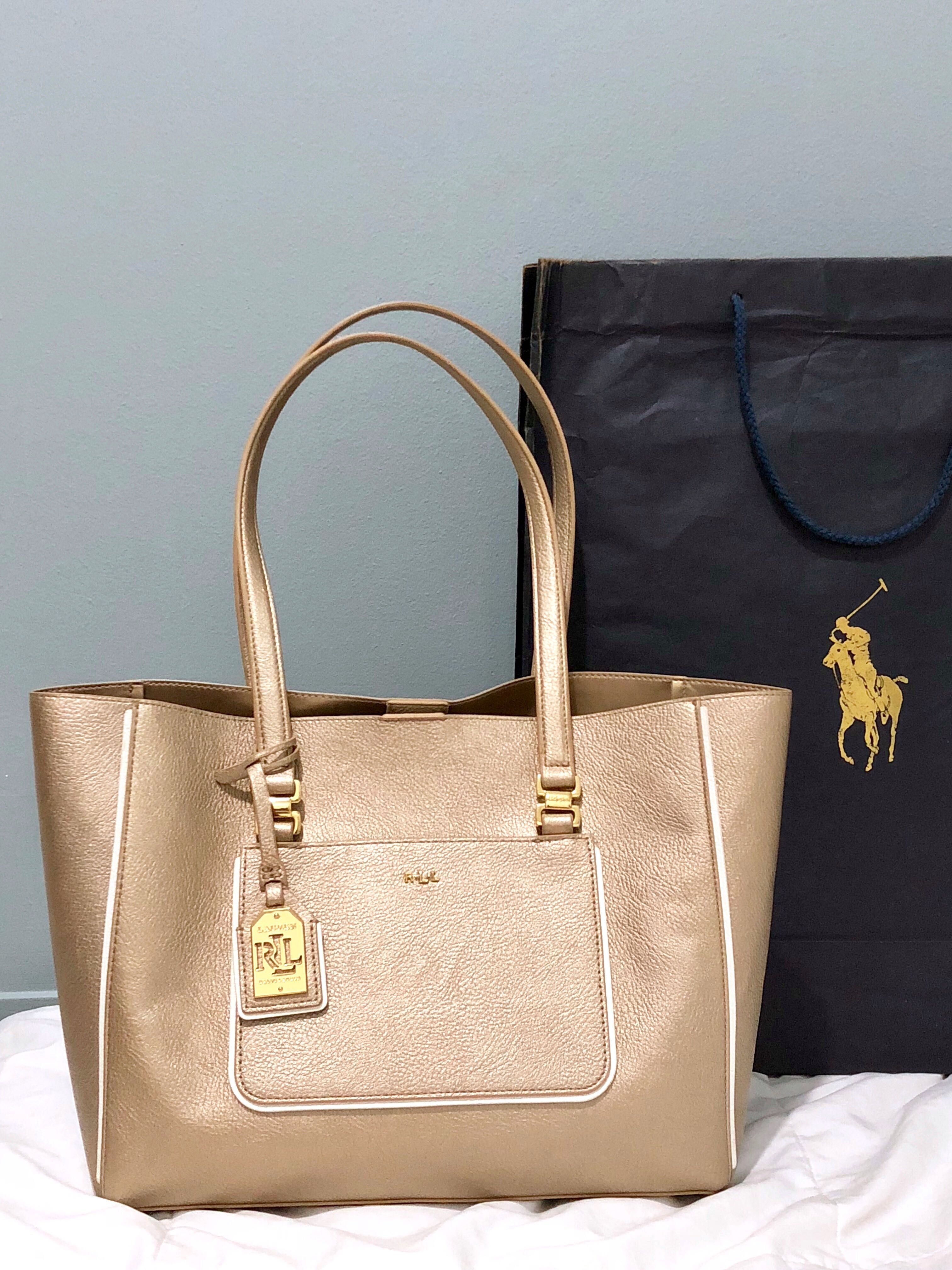 ... cheap ralph lauren gold leather tote bag womens fashion bags wallets on  carousell 4462f 2617a 07dbe584df