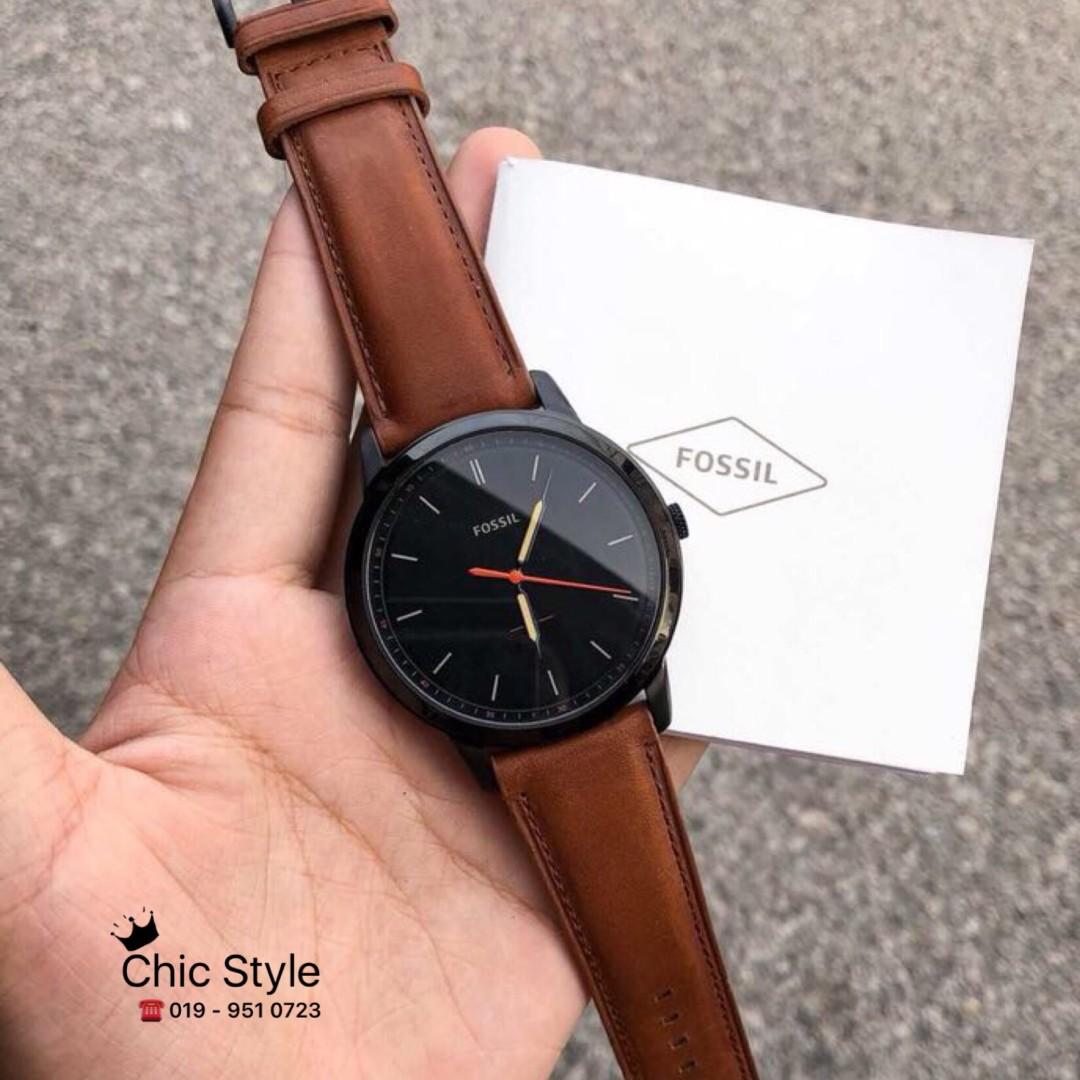 Tempat Jual Fossil Es2855 Es 2855 Update 2018 Jam Tangan Wanita Original Es3950 Tailor Dark Brown Leather Ready Stock Fs5305 Light Watch Fesyen Lelaki