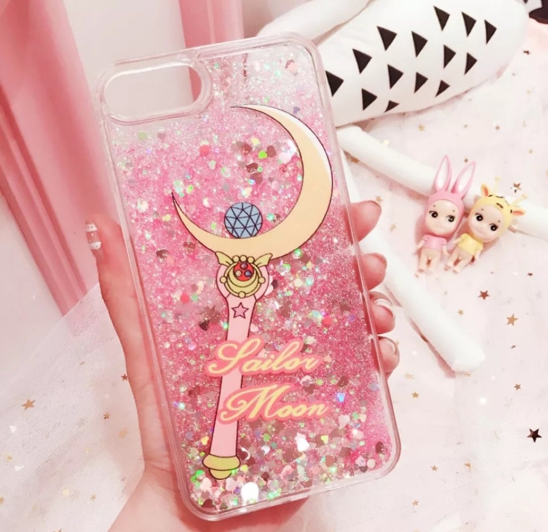 official photos 50b1a 27c1f Sailor moon glitter phone case