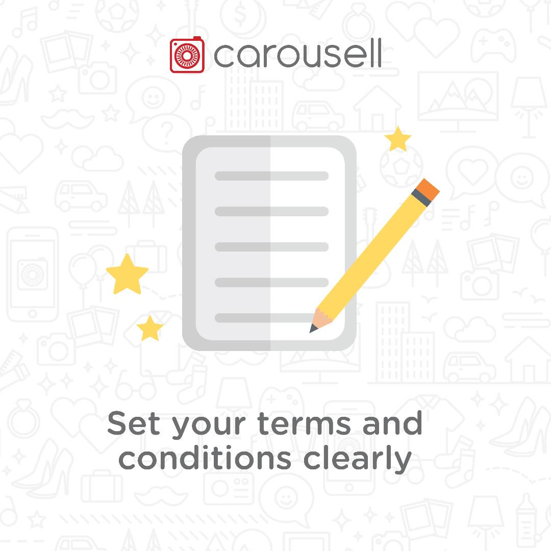 Seller Tip: Set your terms and conditions clearly