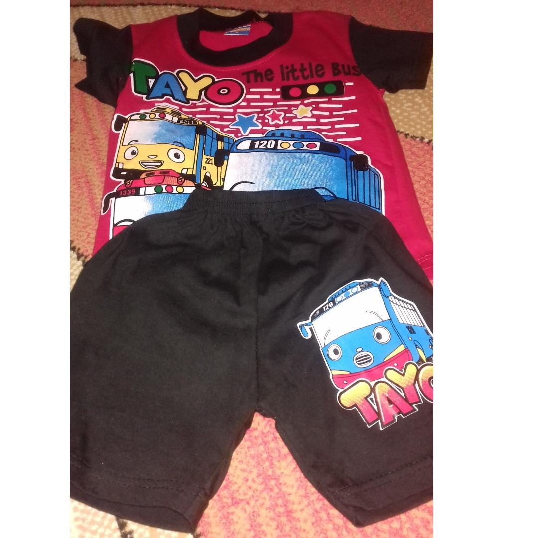 Setelan Baju Anak Tayo Babies Kids Boys Apparel On Carousell Stelan Kaos
