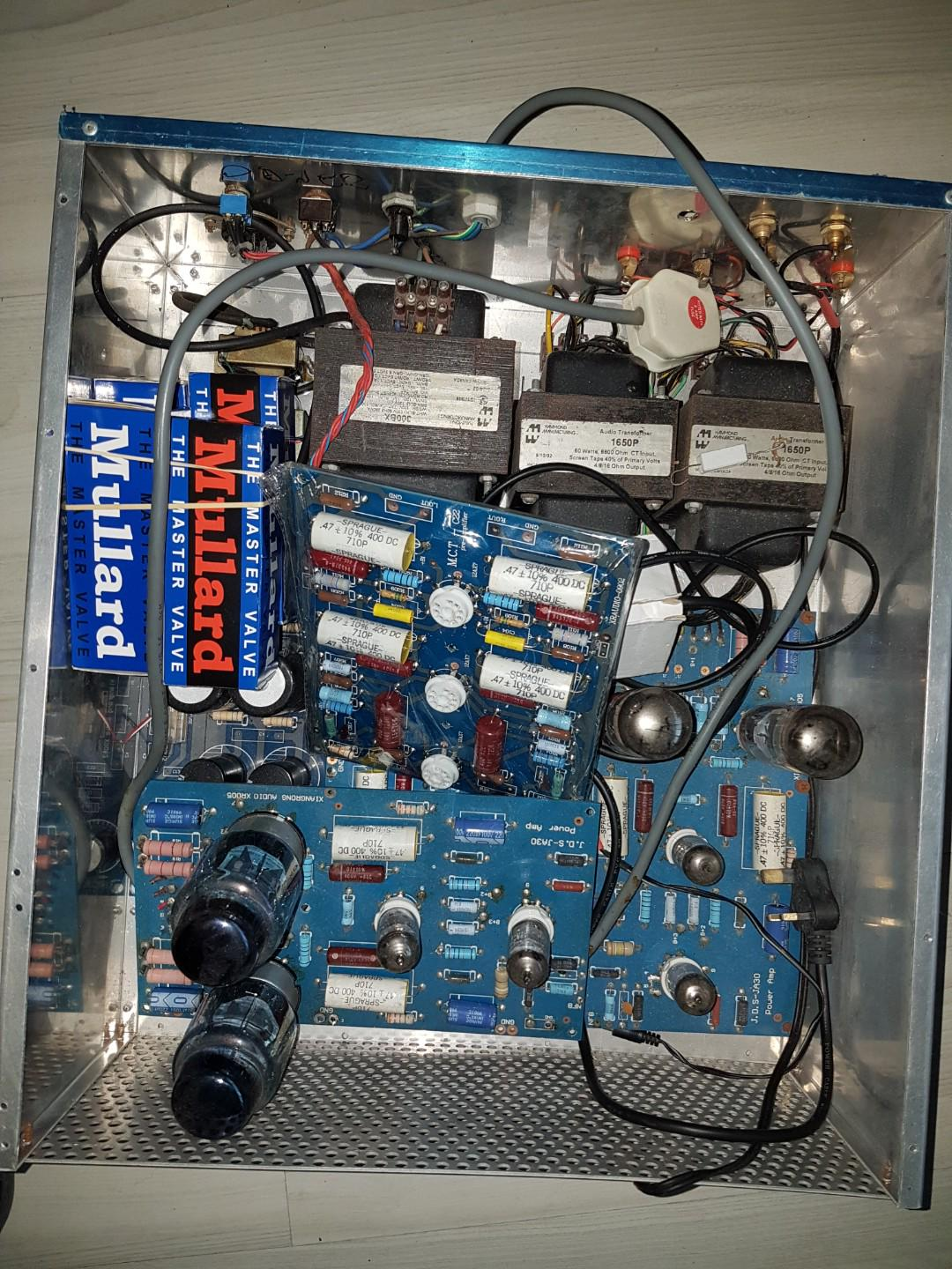Stereo Tube Amplifier Kit, Electronics, Audio on Carousell