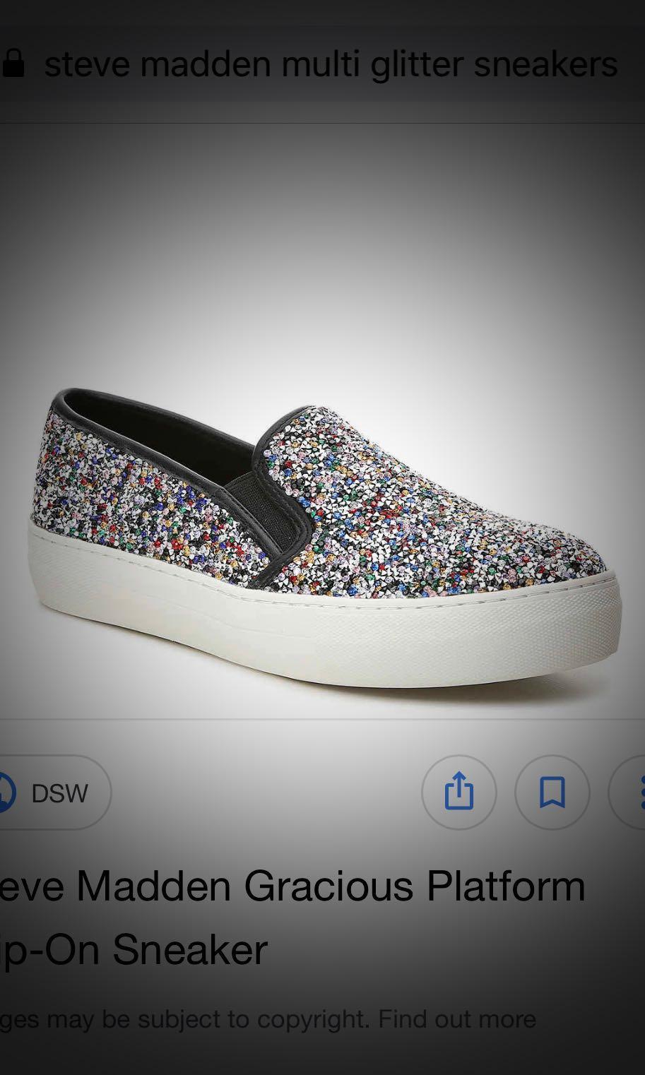 05ada163cff Steve Madden Glitter Sneakers