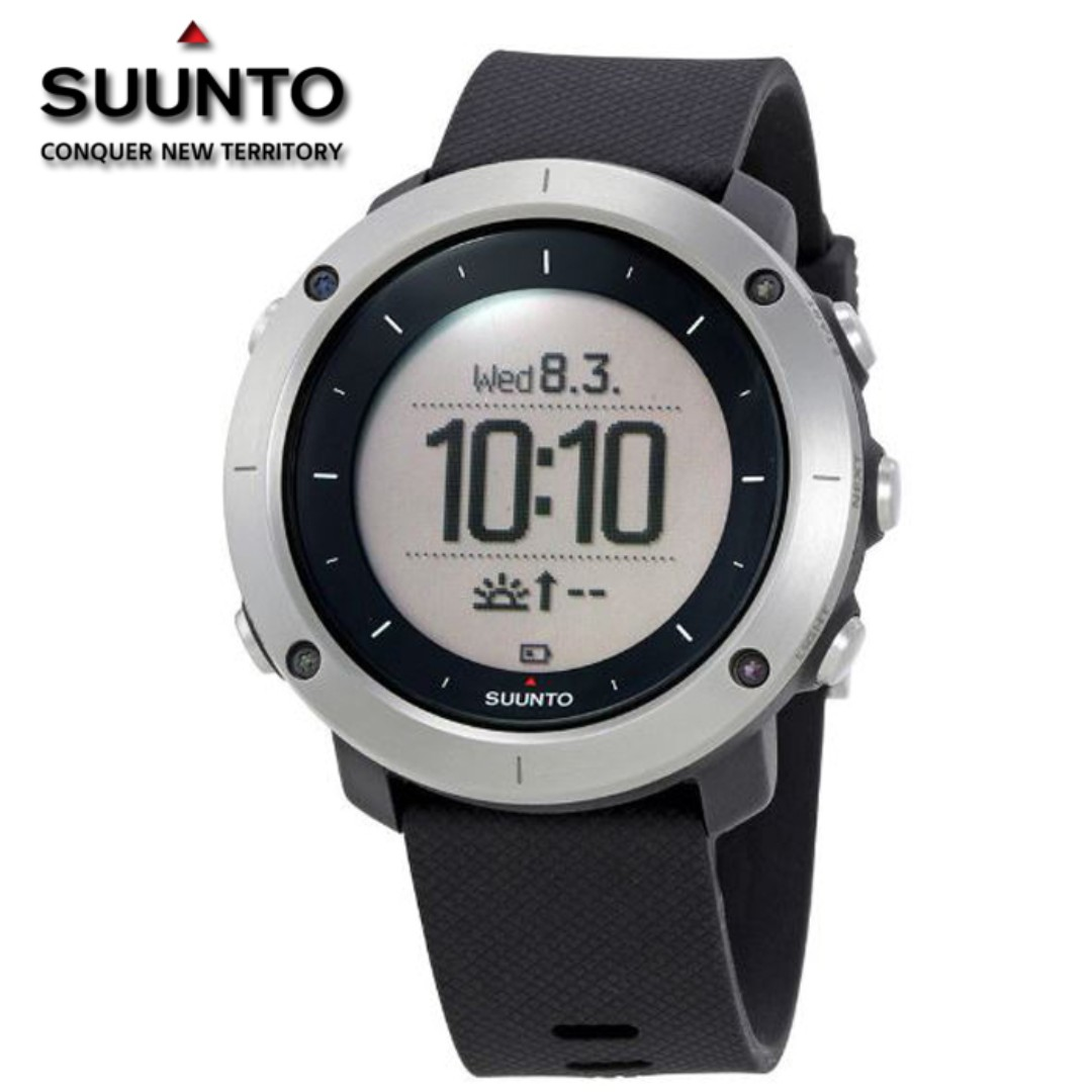 Suunto Traverse Black Gps Outdoor Watch For Hiking And Trekking Ambit3 Peak Sapphire Hr Sports Ss021843000 Mens Fashion Watches On Carousell