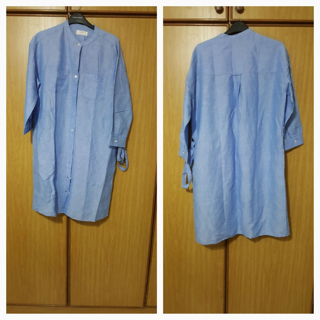 a154ceca69 Uniqlo dress shift dress style with 3 quarter sleeve. New size L ...