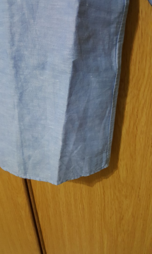 3fdadf9dad6 Uniqlo dress shift dress style with 3 quarter sleeve. New size L. Linen  with cotton