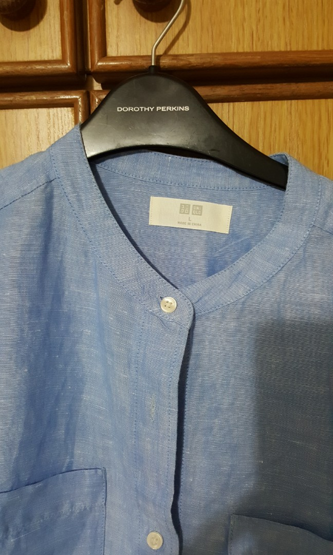 20654cee12 Uniqlo dress shift dress style with 3 quarter sleeve. New size L. Linen  with cotton