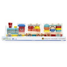 Brand New Wooden Stacking Train Set Toy