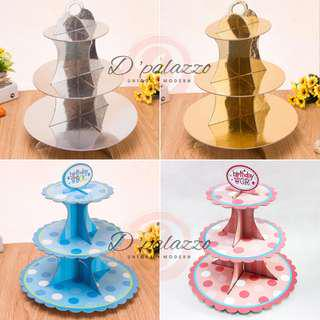 3 Tiers CupCakes Stand Cup Cakes Stand Party Decoration 3 layers Plate Stand