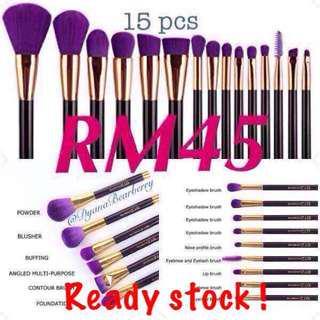 Makeup brush @ berus makeup (15pcs Purple Brush) #JulyPayDay