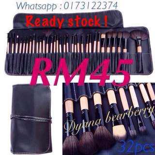 Makeup brush @ berus makeup (32pcs Brush Wood)