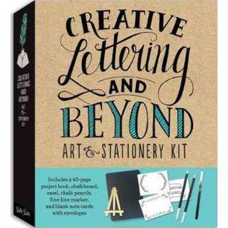 🚚 [PRE-ORDER] Creative Lettering and Beyond Art & Stationery Kit: Includes a 40-page project book, chalkboard, easel, chalk pencils, fine-line marker, and blank note cards with envelopes