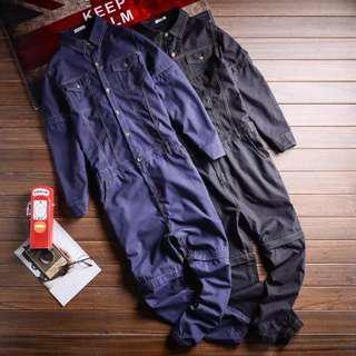 Men's overall long pant long sleeve removable short pant