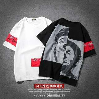 Men's printed tee oversize street fashion