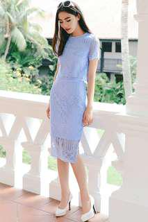 Fashmob Maison Skirt in Periwinkle Blue M