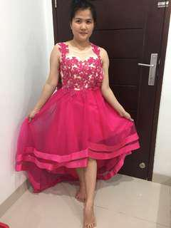 Gaun malam/gaun fanta/gaun fusia/ gaun pesta / gaun murah