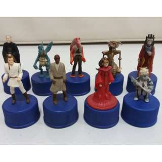 Star Wars Pepsi Bottle Cap Action Figures Set