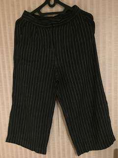 Giordano Stripes Culottes / Kulot Garis Garis