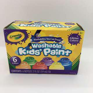 Crayola Washable Paint (glittery colors)