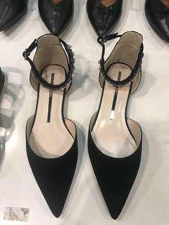 NEW- Staccato Pointy Flats with Beads