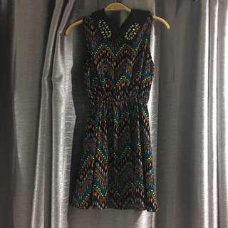 Tribal collared dress