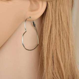 Heart Hoop Earrings *
