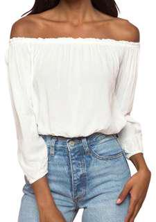 Brandy Melville off the shoulder blouse