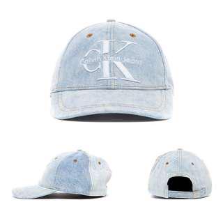 🚚 [現貨] 英國代購 Calvin Klein 大標徽牛仔棒球帽 刷舊水藍色