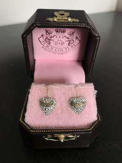 Juicy Couture Heart Studded Earrings