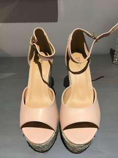 Nude Wedges from Boohoo