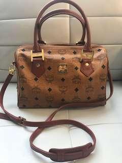 Authentic MCM Satchel Bag Purse