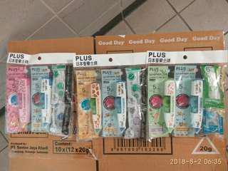PLUS 日本普樂士牌2機2芯改錯帶套裝。