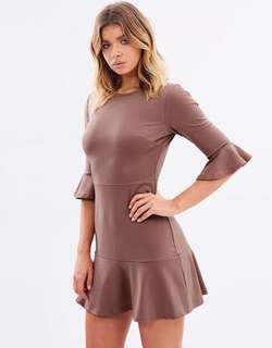 Atmos&Here  Bessy Frill Hem Dress - Size 8
