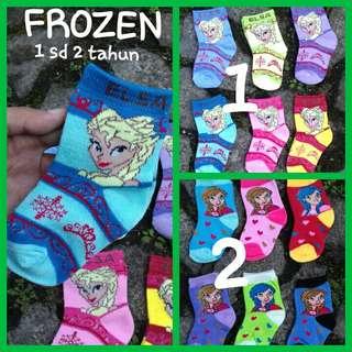 Kaos kaki anak motif frozen