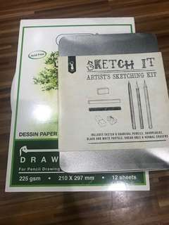 Sketch kit and Sketch Pad