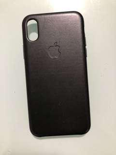 Iphone X apple leather cover / case