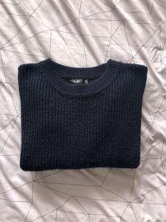 Navy knit