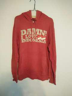 Hoodie damn I love Indonesia not champion,h&m,pull&bear
