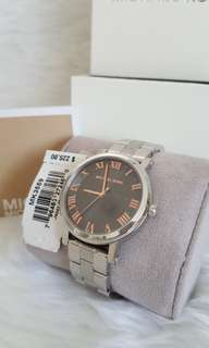 Auth New not OEM Michael Kors MK3559 Grey Norie watch coach kate spade fossil