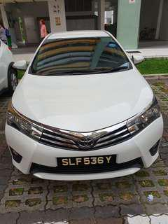 2016 altis car for rent for grab