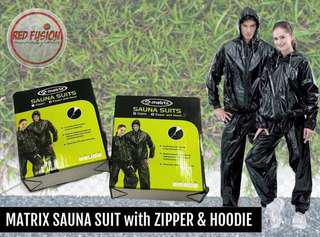 Sauna Suit With Zipper & Hoodie
