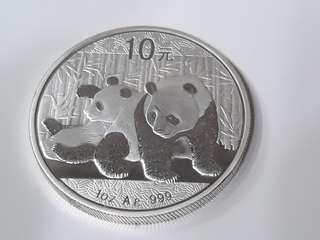 2010 China Panda 1oz Silver
