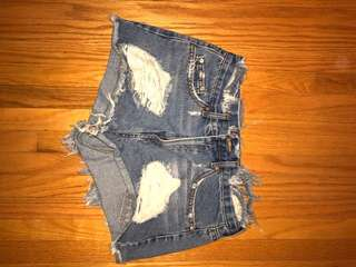 forever 21 denim shorts worn once size 28