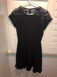 forever 21 lace back black dress